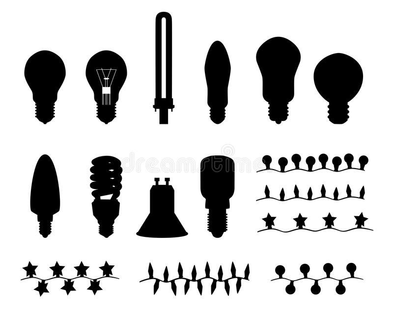 Lampadine ed indicatori luminosi di natale royalty illustrazione gratis