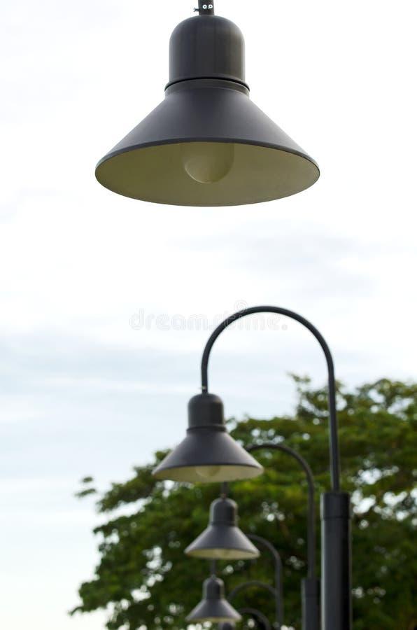 Lampan parkerar fotografering för bildbyråer