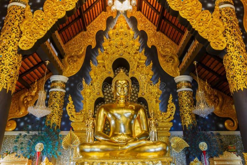 Lampang, Будда отображает в виске Таиланда, ` Amphoe Mae Tha jhana PA doi wat `, Lampang, Таиланда стоковое фото