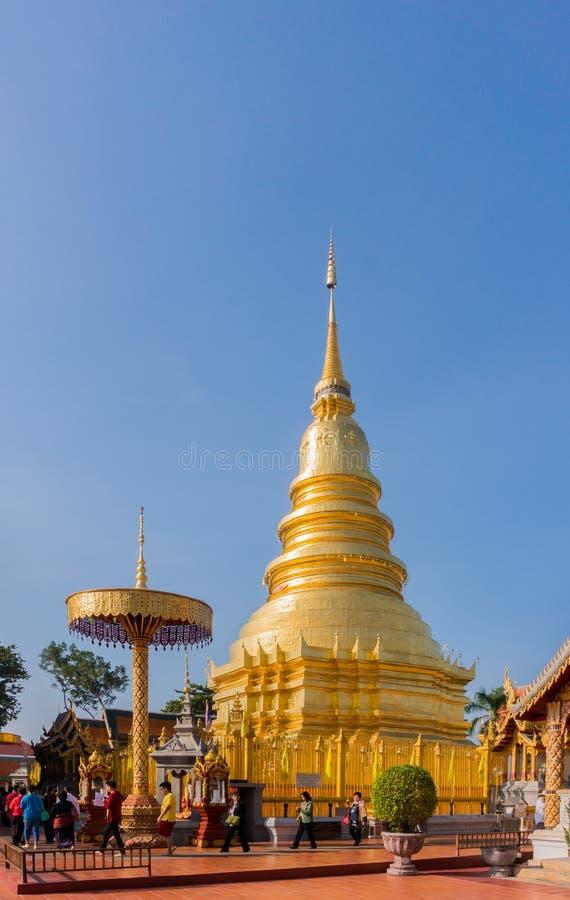 Lampang, Таиланд 24-ое ноября 2014: Изумительная архитектура пэ-аш Wat стоковые изображения