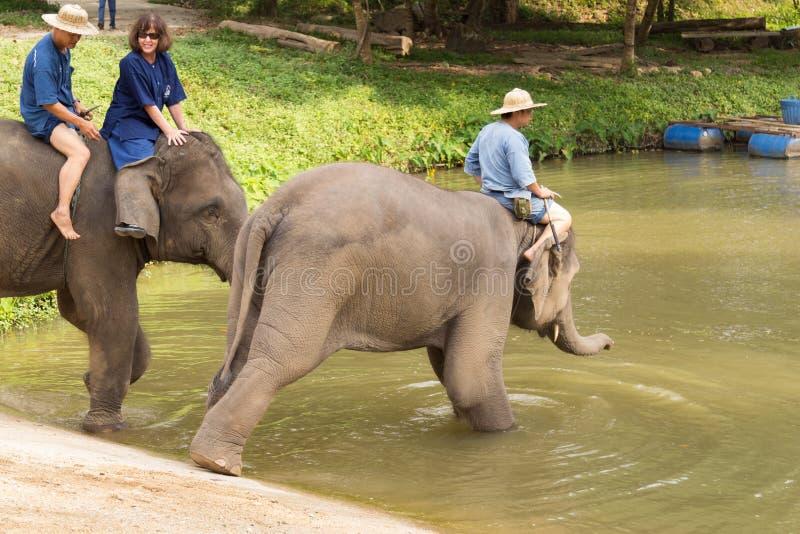 LAMPANG, THAILAND - 7. DEZEMBER 2018: Tourist Thailand, Activit stockbilder
