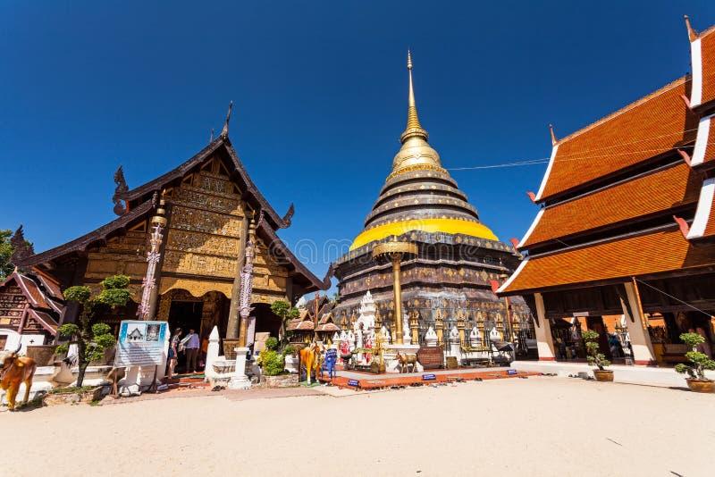 LAMPANG THAILAND-October 20:Wat Phra That Lampang Luang Lanna pagoda in Lampang ,Thailand on October 20 , 2015 in LAMPANG THAILAND royalty free stock image