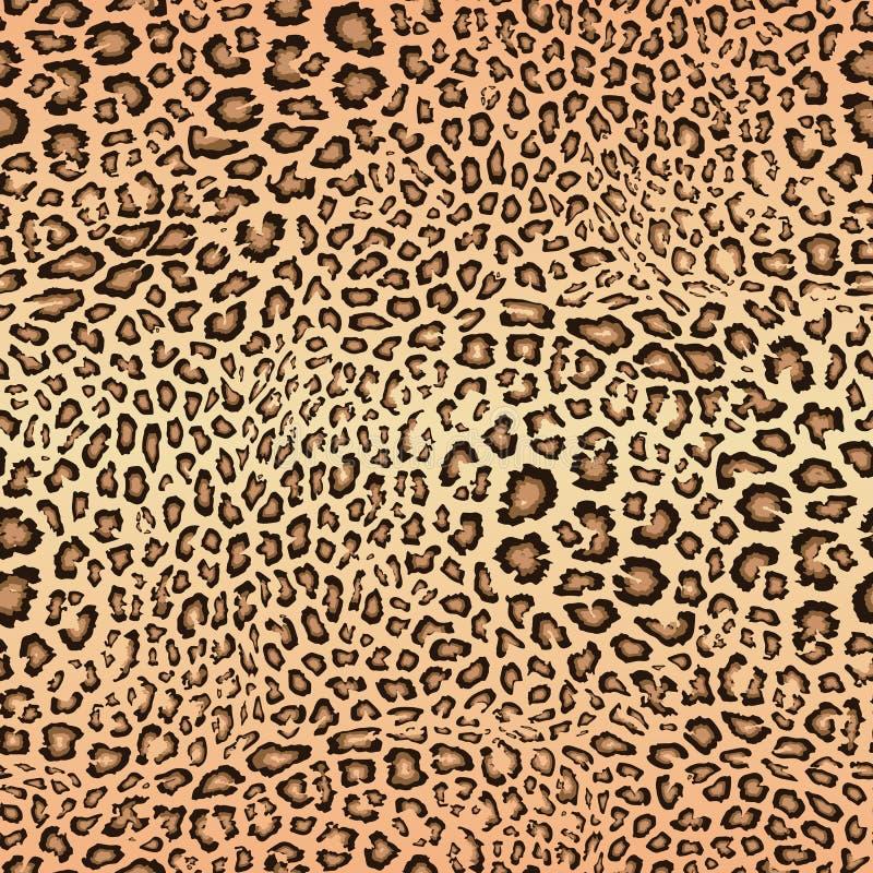 Lampart sk?ry wz?r tekstura bezszwowy wektor Zwierz?cy druk, jaguar, gepard ilustracji