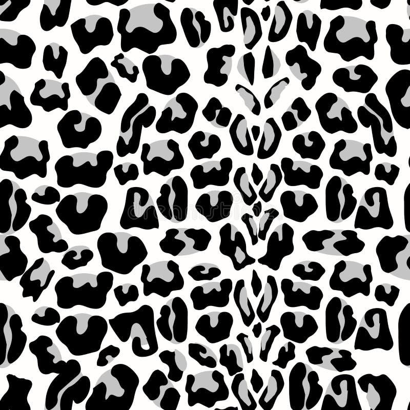 lamparta bezszwowy deseniowy Zwierzęcy druk wzór z lamparta futerka teksturą Wielostrzałowego lamparta futerkowy tło dla tekstyln ilustracja wektor