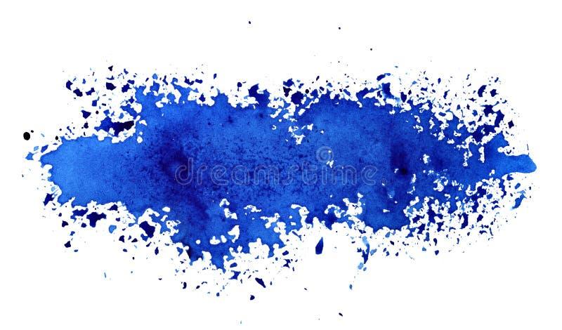 Lampas rozlewająca błękitna farba zdjęcia royalty free