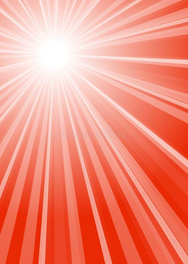 Lampasa tło z czerwieni centrum ilustracja wektor