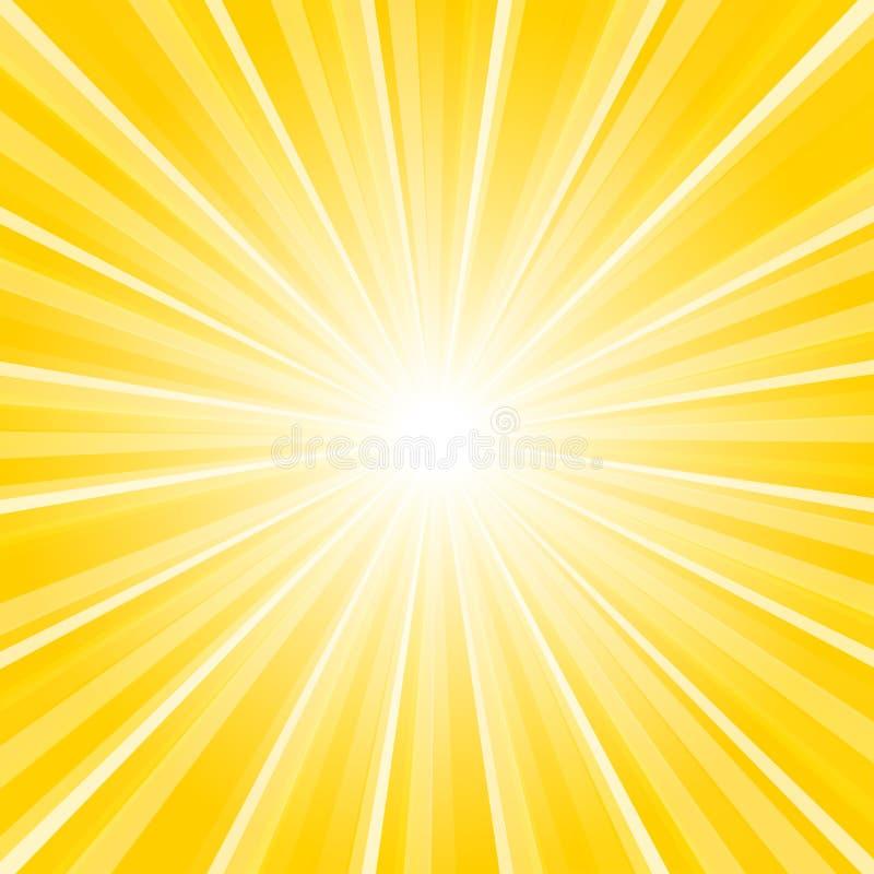 Lampasa tło z koloru żółtego centrum royalty ilustracja