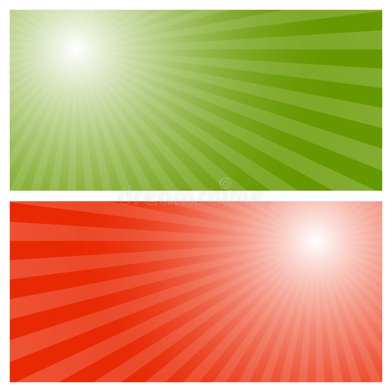 Lampasa tło z zieleni i czerwieni centrum royalty ilustracja