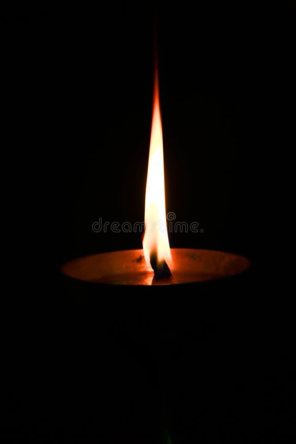 Lampe à pétrole de Deepavali photographie stock
