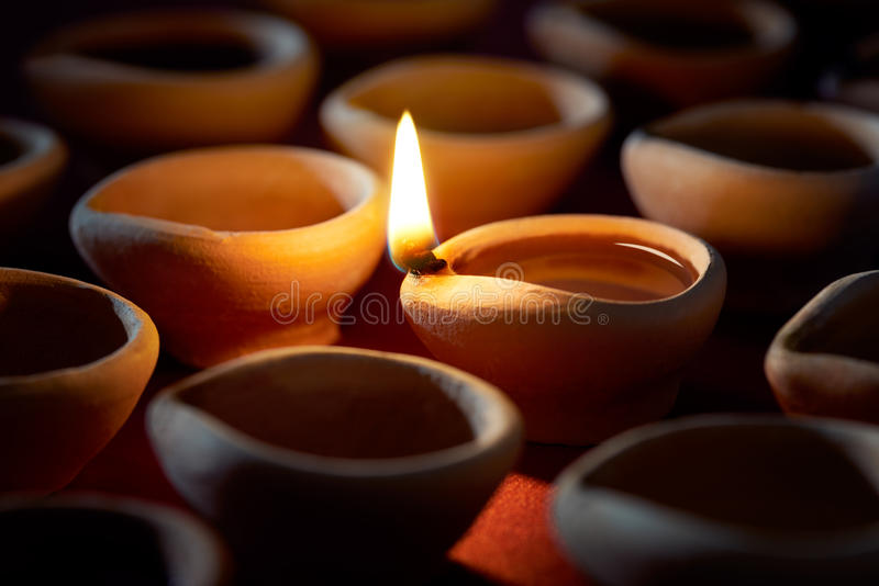 Lampe à pétrole de Diwali photos libres de droits