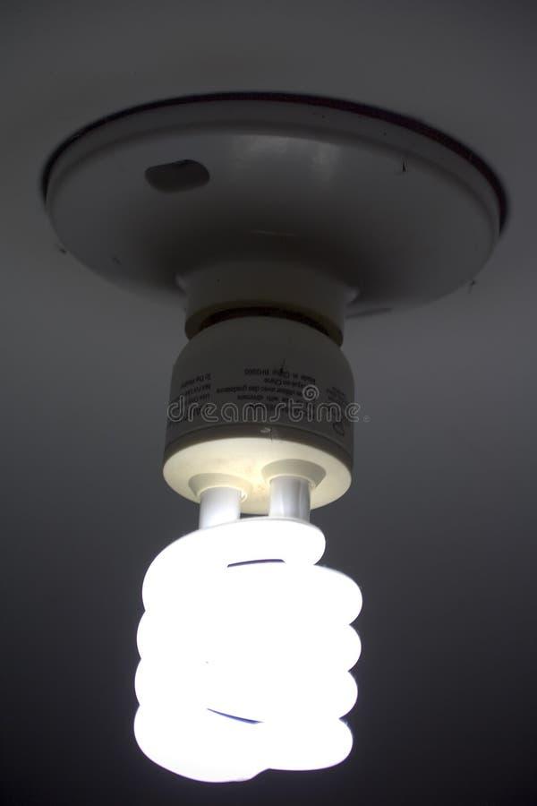 Lampe économique individu-lestée par éclairage image stock