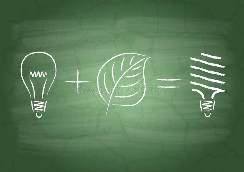 Lampe économiseuse d'énergie illustration stock