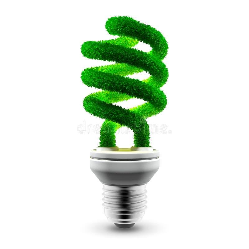 Lampe économiseuse d'énergie verte illustration de vecteur