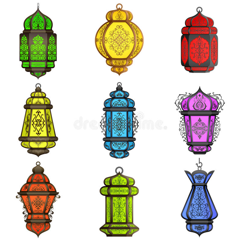 Lampe arabe colorée illustration libre de droits