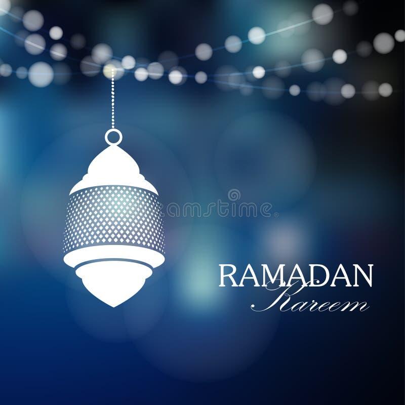 Lampe arabe lumineuse, lanterne avec des lumières, Ramadan, illustration libre de droits
