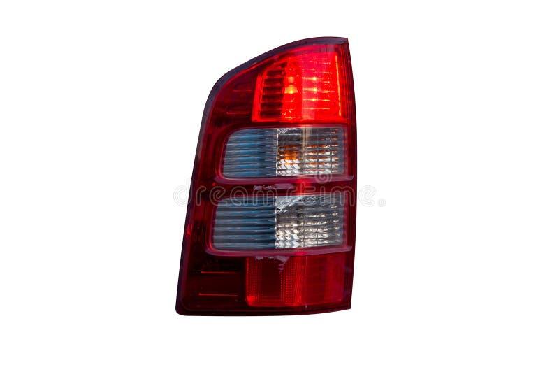 Lampe arrière de voiture d'isolement sur le blanc image libre de droits