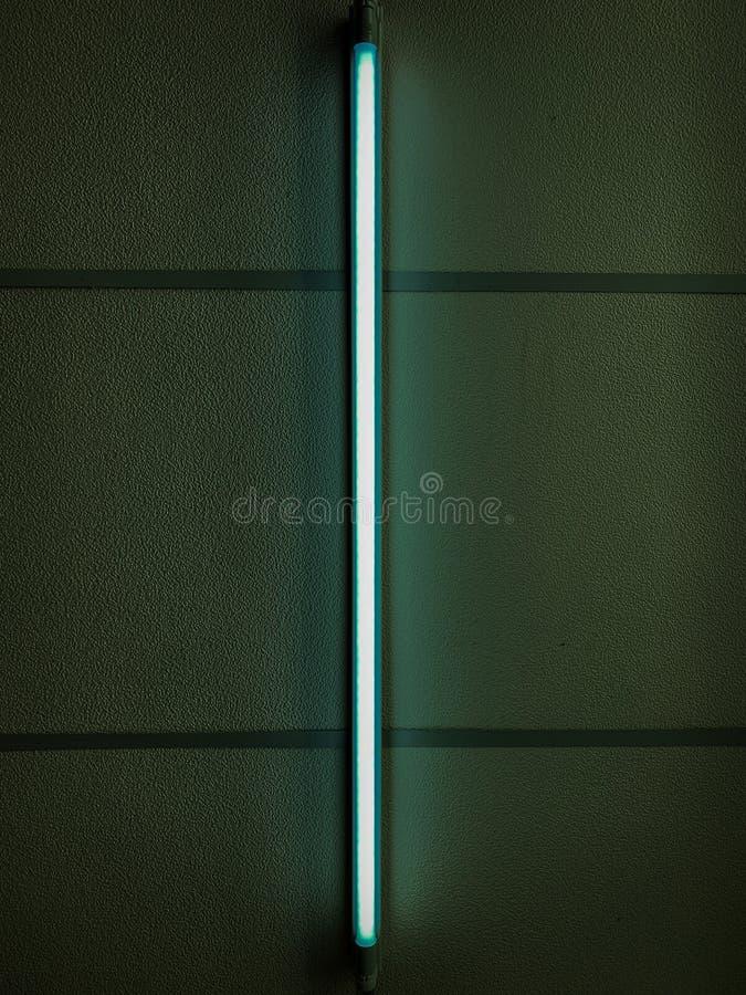 Lampe au néon verte image libre de droits