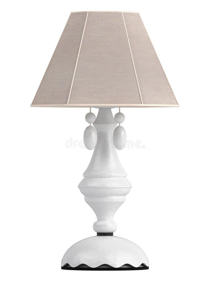 Lampe blanche avec la nuance hexagonale illustration stock