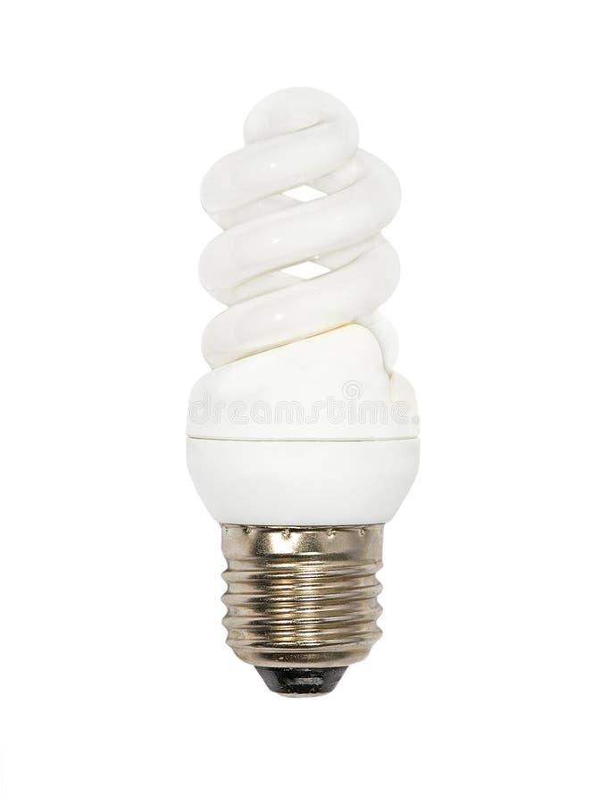 Lampe d'économies d'énergie. D'isolement. images stock
