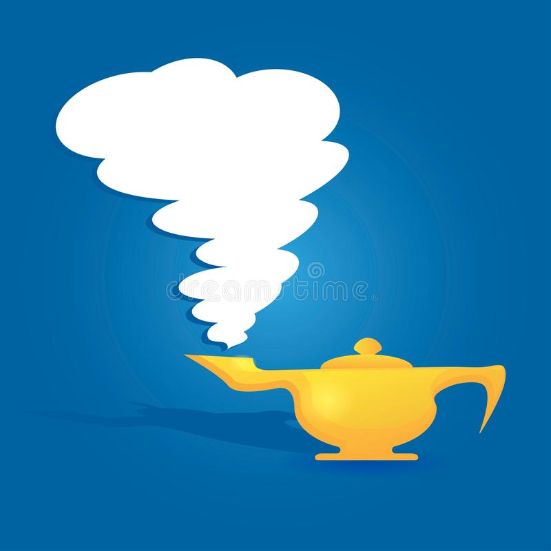 Lampe d'Aladin illustration stock