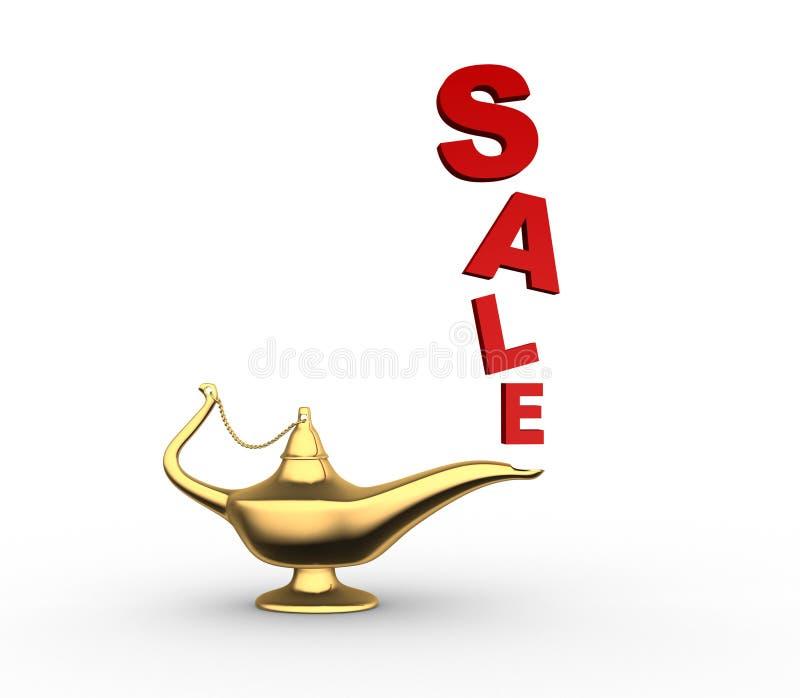 Lampe d'Aladin illustration de vecteur