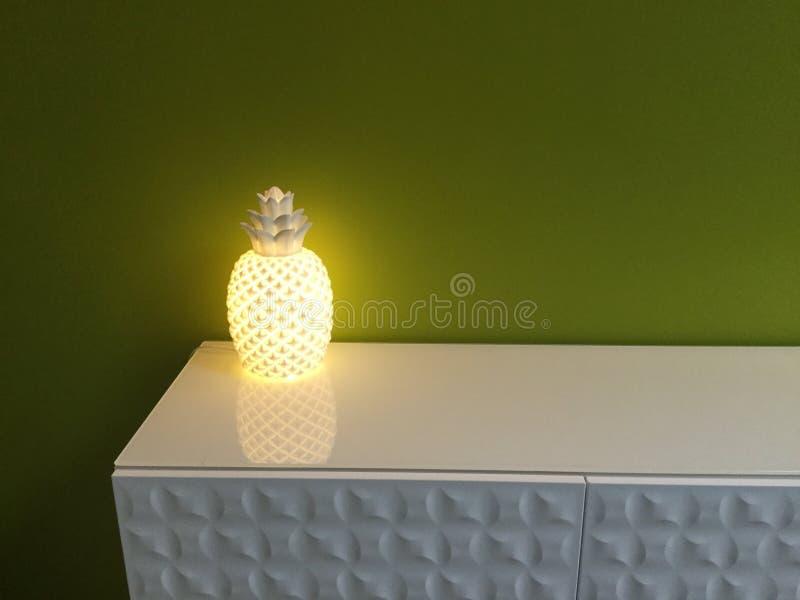 Lampe d'ananas photo libre de droits