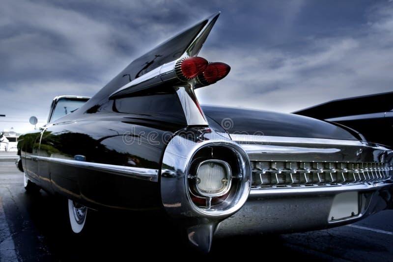 Lampe d'arrière d'un véhicule classique images stock