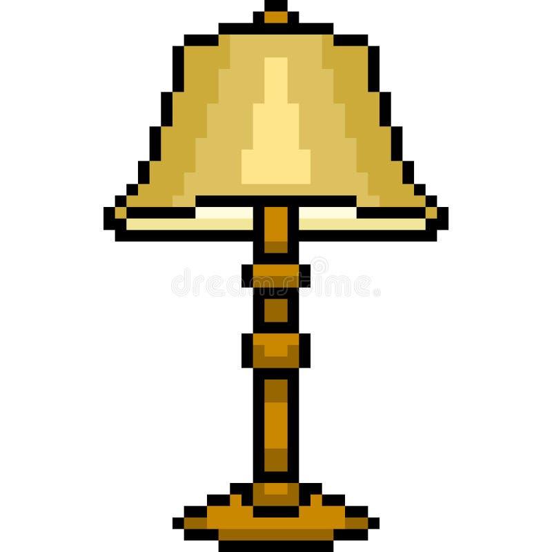 Lampe d'art de pixel de vecteur illustration de vecteur