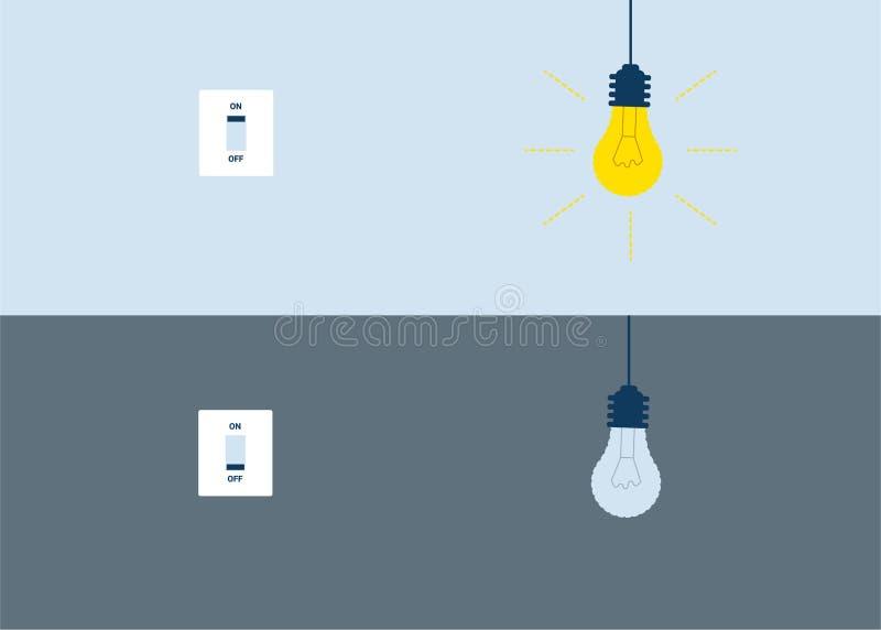 Lampe d'idée dessus,  illustration stock