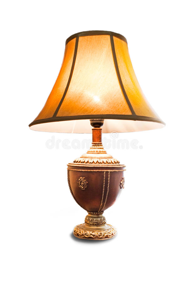 Lampe d'isolement photographie stock