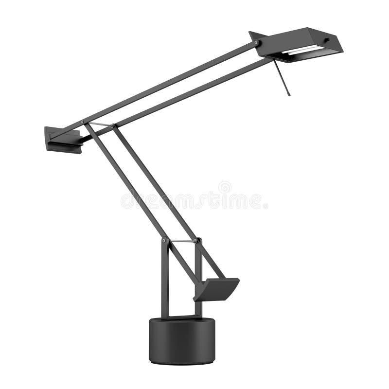 lampe de bureau noire moderne d 39 isolement sur le blanc image stock image du halog ne. Black Bedroom Furniture Sets. Home Design Ideas