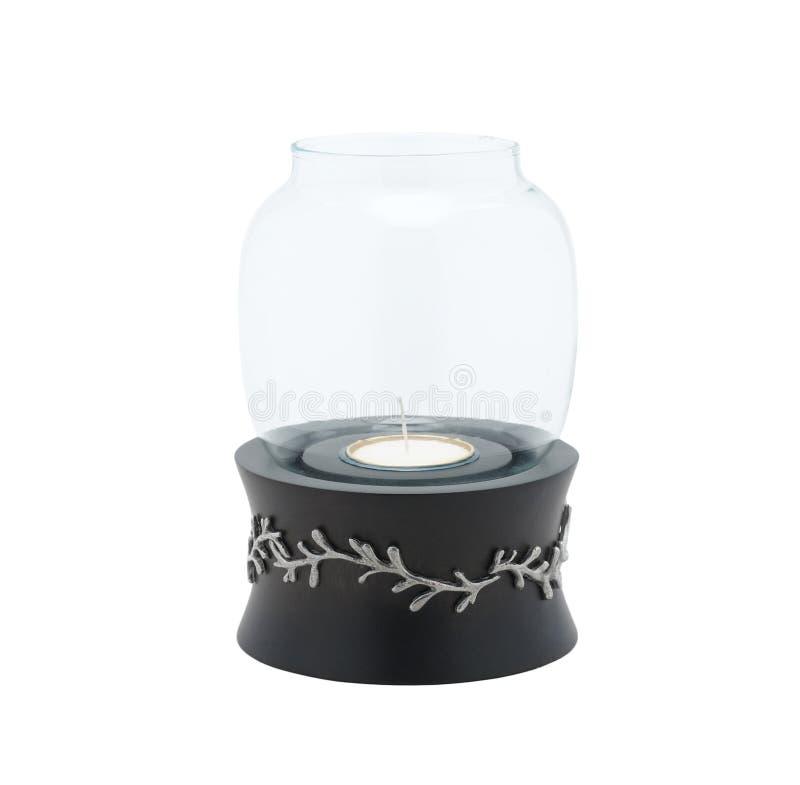 Lampe de chandelier décorée par l'étain dans la forme de fleur photographie stock libre de droits