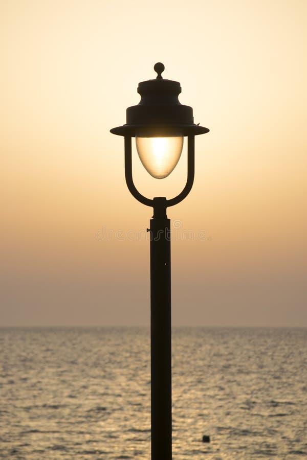 Lampe de coucher du soleil photos libres de droits
