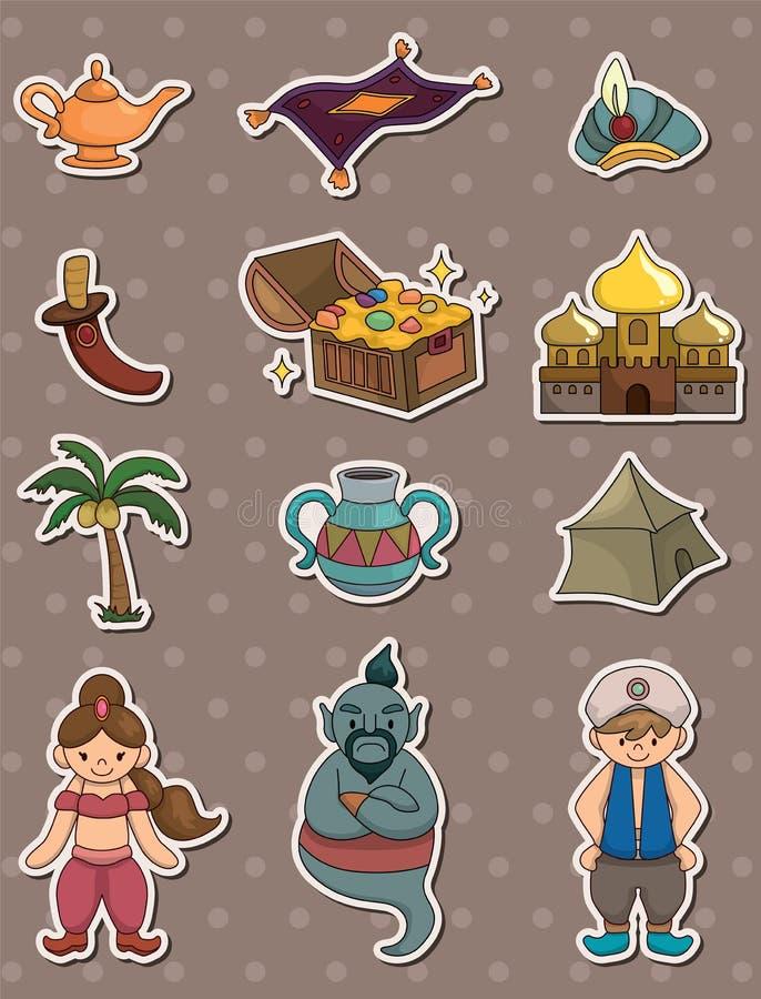 Lampe de dessin animé d'Aladdin illustration libre de droits