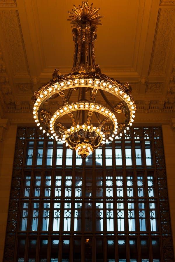 Lampe de Grand Central images libres de droits