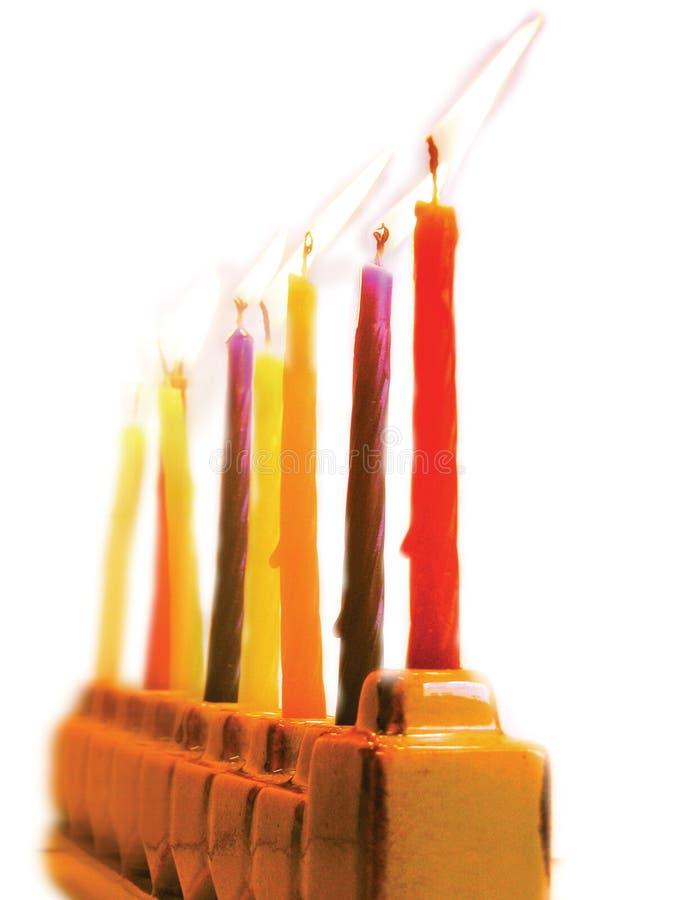 Lampe de Hanukkah photographie stock libre de droits