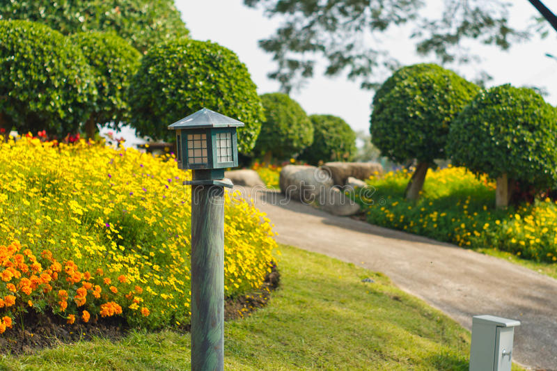 Lampe de jardin photo stock
