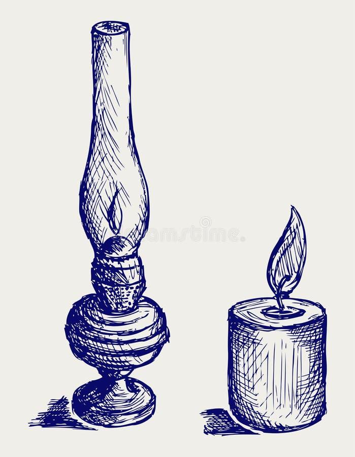 Lampe de kérosène illustration de vecteur