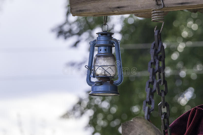 Lampe de kérosène photographie stock