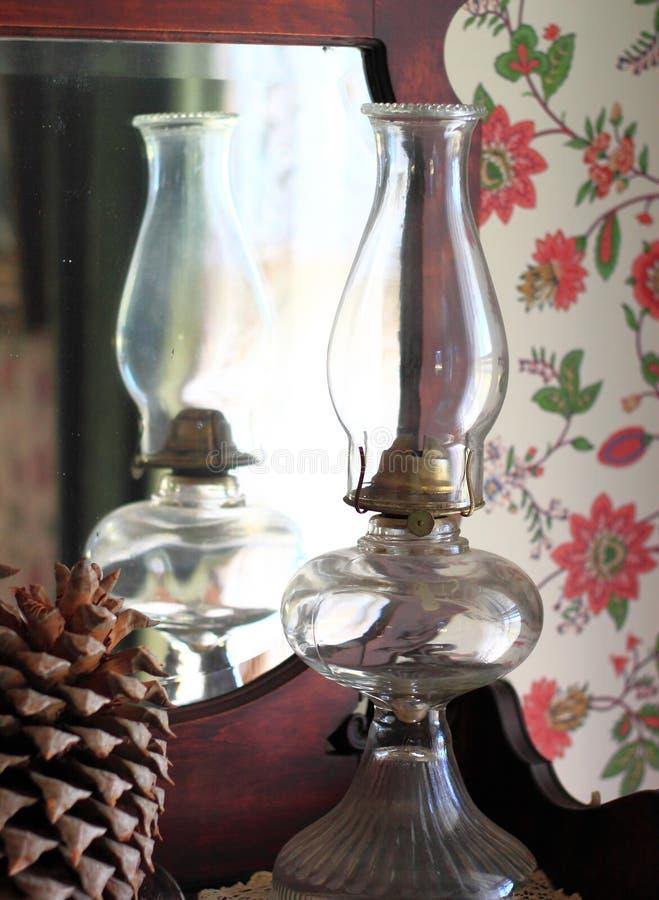 Lampe de kérosène en verre image libre de droits