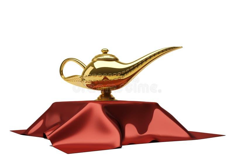 Lampe de magie d'Aladin illustration de vecteur