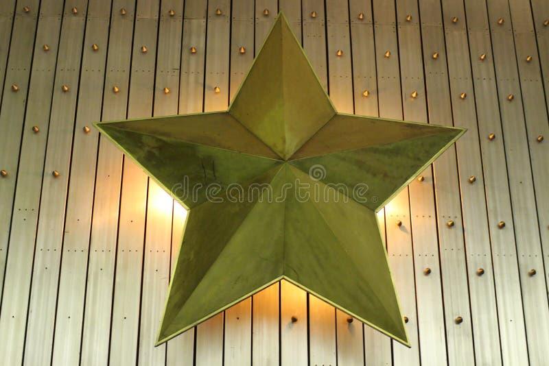 Lampe de mur décorative d'étoile photographie stock libre de droits