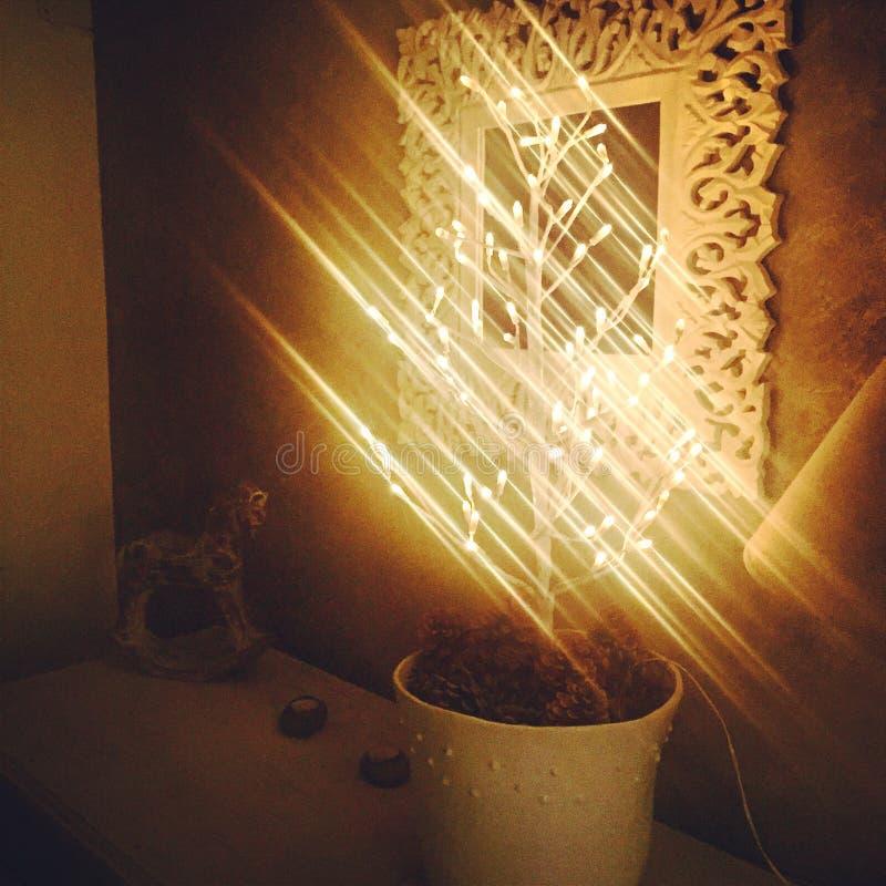 Lampe de Noël. à l'entrée d'une maison royalty free stock image