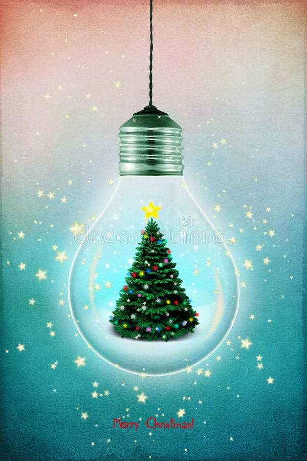 Lampe de Noël illustration libre de droits