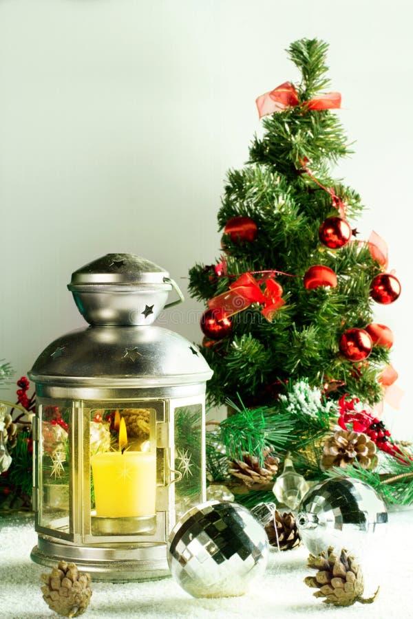 Lampe de Noël sur le blanc images libres de droits
