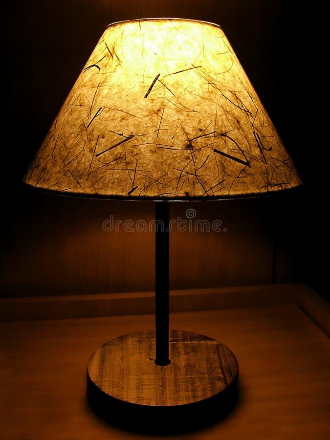 Lampe de nuit de papier fabriqué à la main image stock
