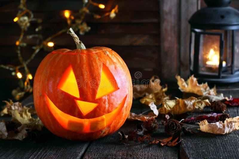 Lampe de potiron pour Halloween photos libres de droits