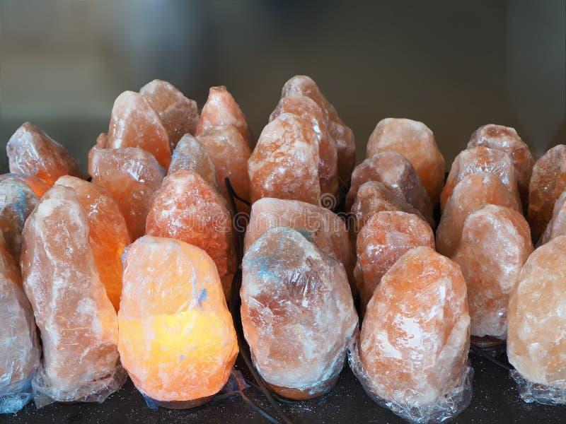 Lampe de sel au lac de sel de dinde images stock