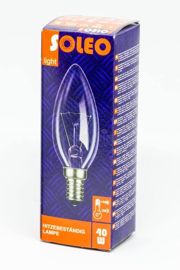 Lampe de spécialiste en lumière de Soleo pour l'usage dans des systèmes de chauffage et de ventilation photos stock