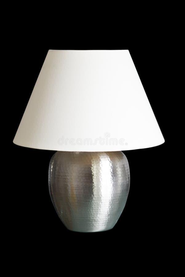 Lampe de table décorative d'isolement sur le noir photos stock